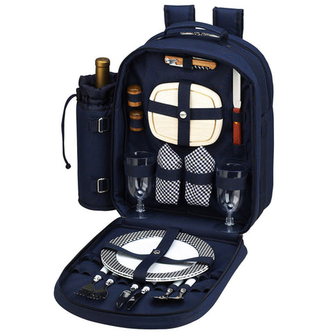 Bold Picnic Backpack for 2 Navy/White