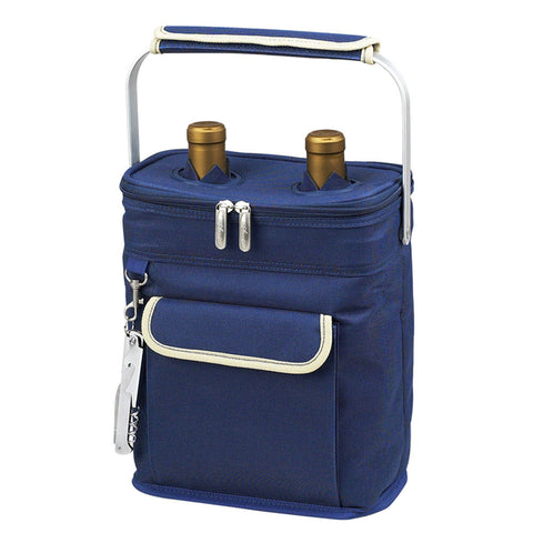 Aegean Two Botttle carrier Blue /Cream Blue/Cream