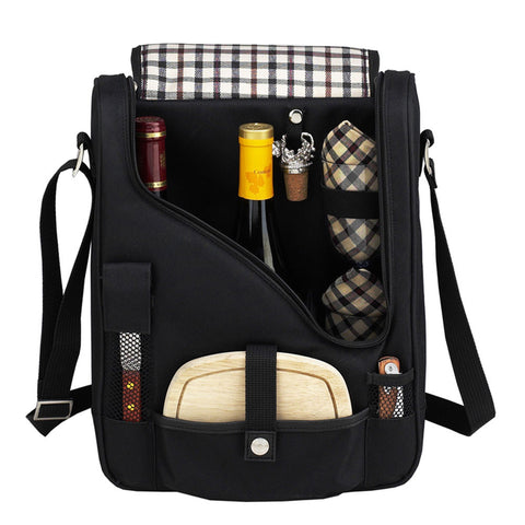 London Lux Wine & Cheese cooler Black/Plaid