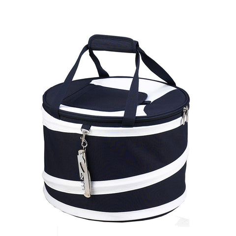 Compact Pop Up Cooler Navy/White