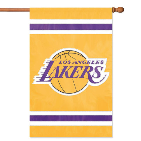 Los Angeles Lakers NBA Applique Banner Flag 44x28