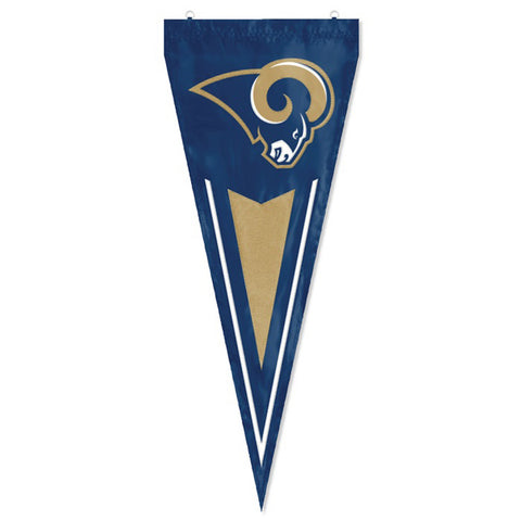 Los Angeles Rams NFL Applique & Embroidered Yard Pennant 34x14