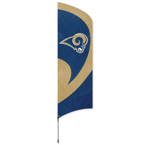 Los Angeles Rams NFL Applique & Embroidered Tall Team Flag 102x30