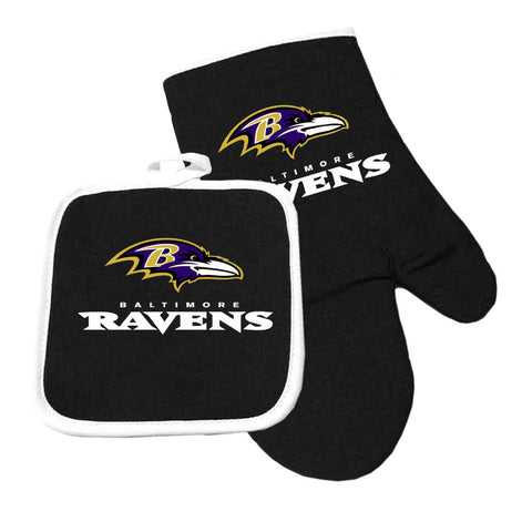 Baltimore Ravens NFL Oven Mitt and Pot Holder Set