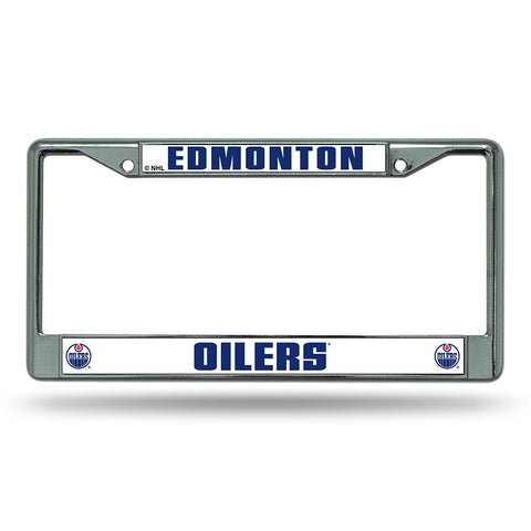 Edmonton Oilers NHL Chrome License Plate Frame