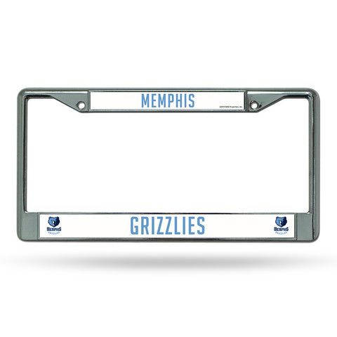 Memphis Grizzlies NBA Chrome License Plate Frame