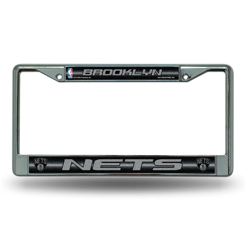 New Jersey Nets NBA Bling Glitter Chrome License Plate Frame