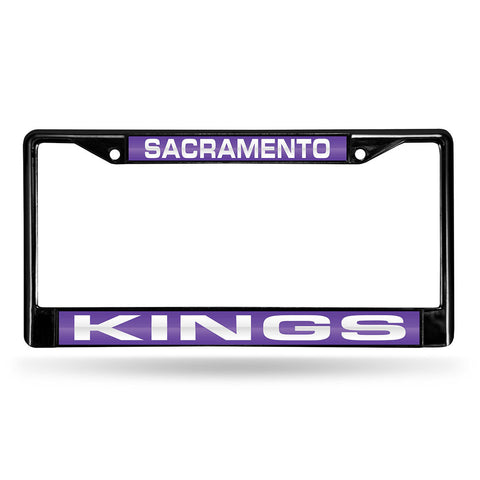 Sacramento Kings NBA Black Chrome Laser Cut License Plate Frame