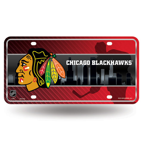 Chicago Blackhawks NHL Metal Tag License Plate