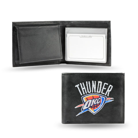 Oklahoma City Thunder Embroidered Billfold Wallet