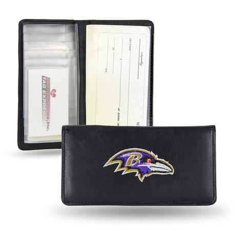 Baltimore Ravens Checkbook Holder Embroidered