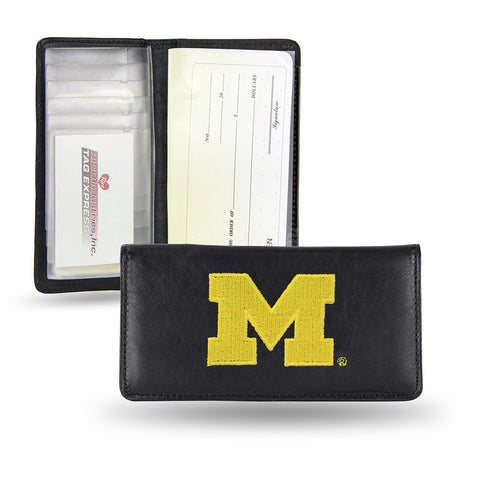 Michigan Wolverines Checkbook Holder Embroidered