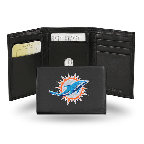 Miami Dolphins Embroidered Trifold Wallet