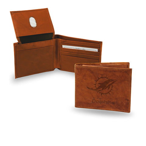 Miami Dolphins Embossed Leather Billfold