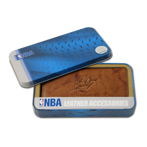 Washington Wizards Embossed Checkbook Holder Pecan Cowhide