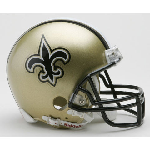 New Orleans Saints Miniature Replica NFL Helmet w/Z2B Mask