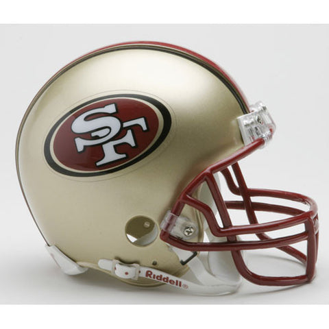 San Francisco 49ers Miniature Replica NFL Helmet w/Z2B Mask