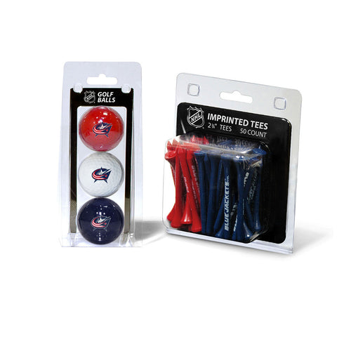 Columbus Blue Jackets NHL 3 Ball Pack and 50 Tee