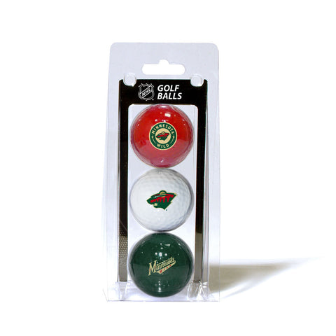 Minnesota Wild NHL 3 Ball Pack
