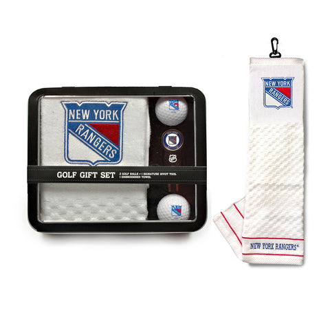 New York Rangers NHL 2 Golf Ball Divot Tool and Towel Set