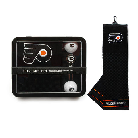 Philadelphia Flyers NHL 2 Golf Ball, Divot Tool and Towel Set