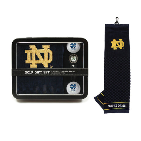 Notre Dame Fighting Irish NCAA 2 Golf Ball, Divot Tool and Towel Set