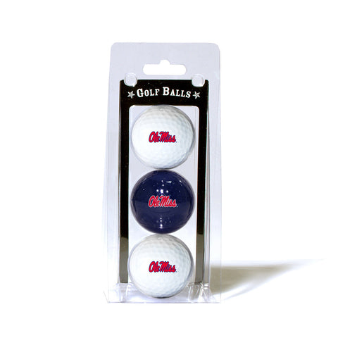 Mississippi Rebels NCAA 3 Ball Pack