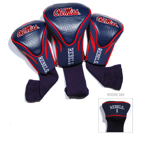 Mississippi Rebels NCAA 3 Pack Contour Fit Headcover