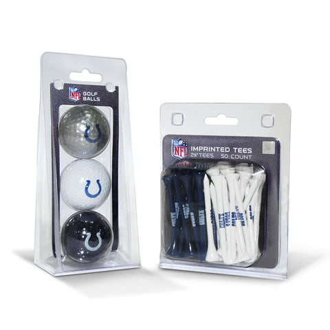 Indianapolis Colts NFL 3 Ball Pack and 50 Tee