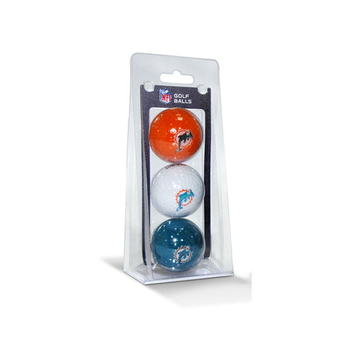 Miami Dolphins NFL 3 Ball Pack