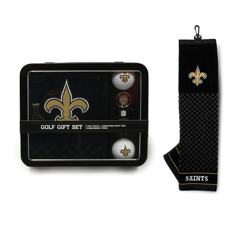 New Orleans Saints NFL 2 Golf Ball, Divot Tool and Towel Set