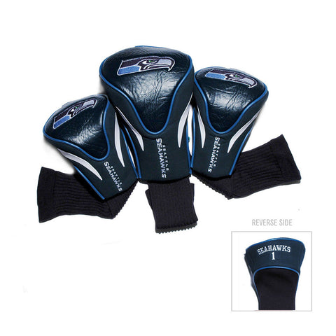 Seattle Seahawks NFL 3 Pack Contour Fit Headcover