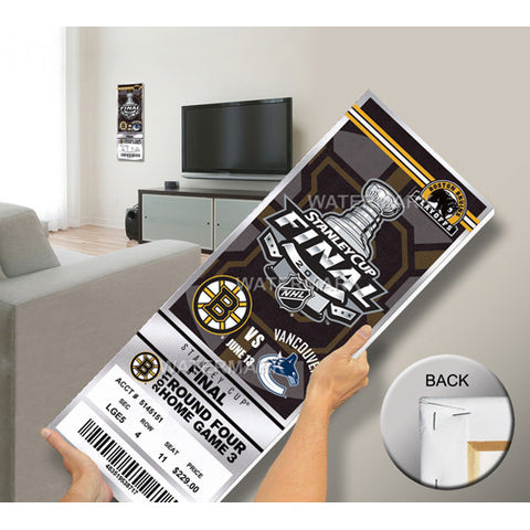 2011 NHL Stanley Cup Final Commemorative Mega Ticket Boston Bruins