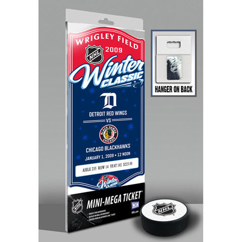 2009 NHL Winter Classic Mini Mega Ticket Detroit Red Wings vs Chicago Blackhawks
