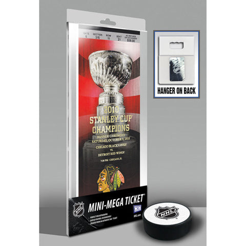 Chicago Blackhawks 2010 Stanley Cup Championship Banner Raising Mini Mega Ticket