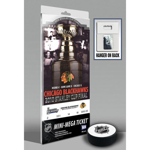 2010 Stanley Cup Mini Mega Ticket Chicago Blackhawks