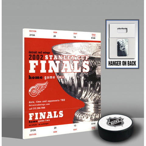 2002 Stanley Cup Mini Mega Ticket Detroit Red Wings