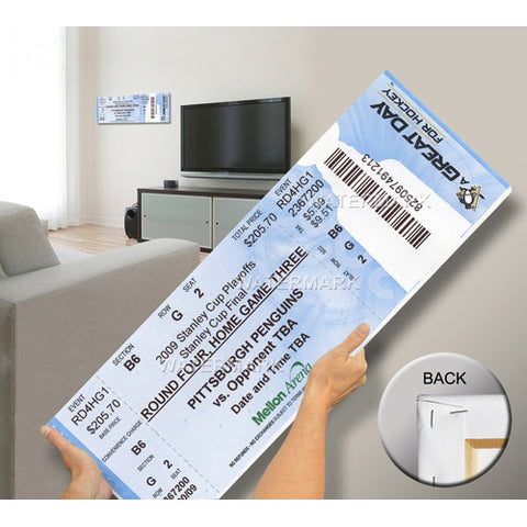 2009 Stanley Cup Mega Ticket Pittsburgh Penguins