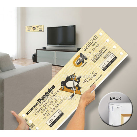 1991 Stanley Cup Mega Ticket Pittsburgh Penguins