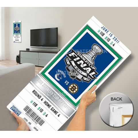 2011 NHL Stanley Cup Final Commemorative Mega Ticket Vancouver Canucks