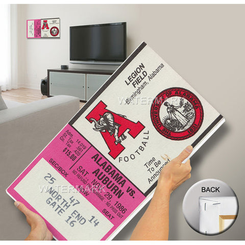 1986 Iron Bowl Mega Ticket Alabama 17 Auburn 21