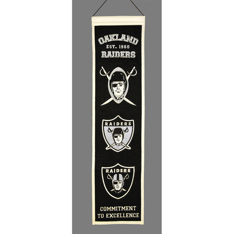 Oakland Raiders NFL Heritage Banner 8 x32