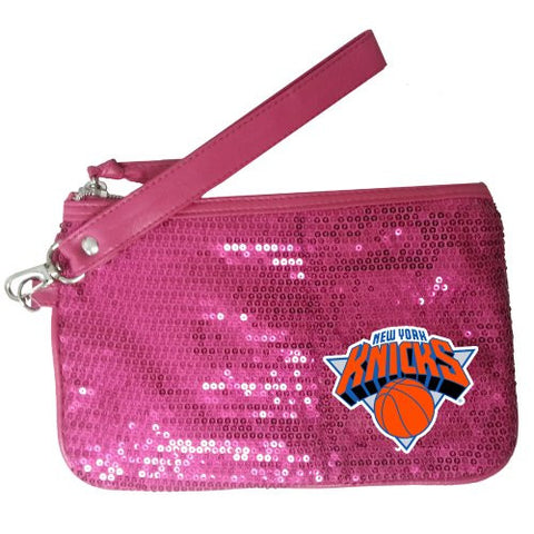 NBA New York Knicks Stat Handbag, Neon Pink
