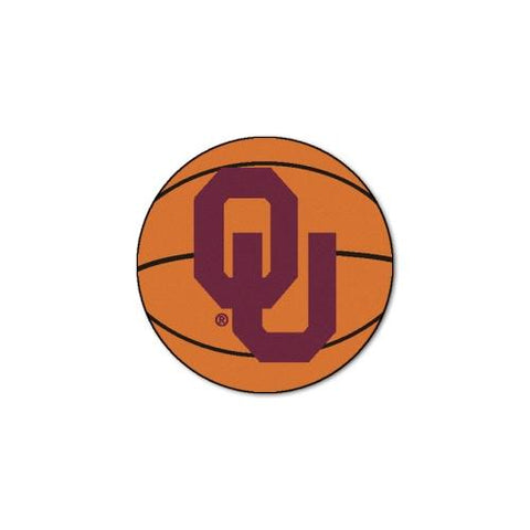 "Oklahoma Sooners NCAA ""Basketball"" Round Floor Mat (29"")"