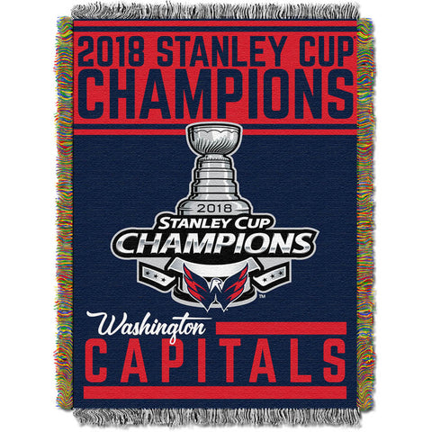 Washington Capitals NHL 2018 Stanley Cup Champions Woven Tapestry Throw (48x60)