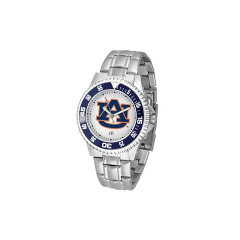 "Auburn Tigers NCAA ""Competitor"" Mens Watch (Metal Band)"