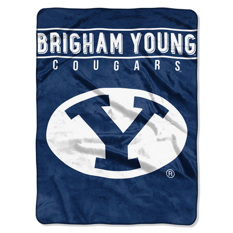 Brigham Young Cougars NCAA Micro Raschel Blanket (Basic Series) (80x60)