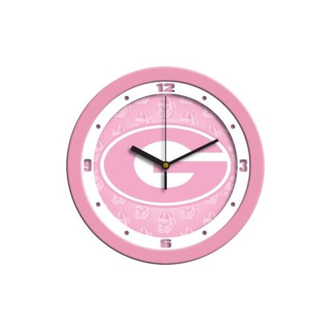Georgia Bulldogs NCAA Wall Clock (Pink)