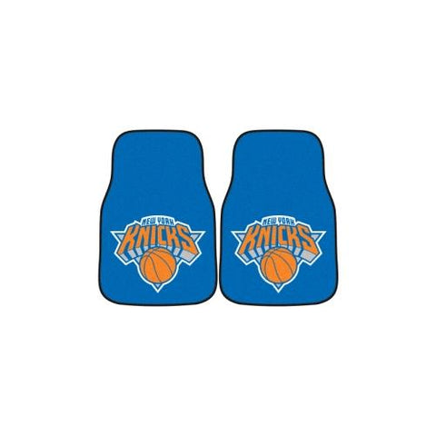 New York Knicks NBA 2-Piece Printed Carpet Car Mats (18x27)