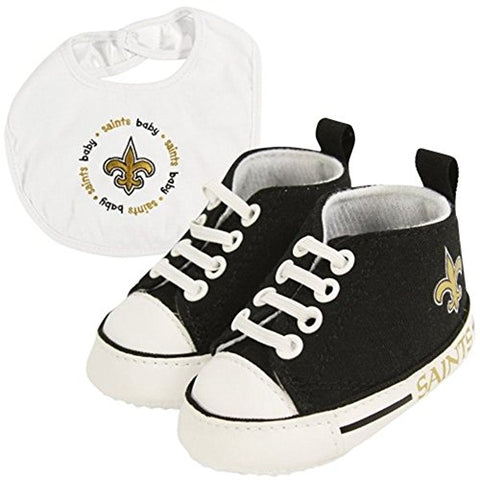 Baby Fanatic BFA-NOS30002 New Orleans Saints NFL Infant Bib and Shoe Gift Set